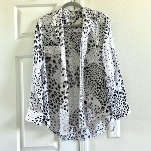 Equipment leopard print silk blouse